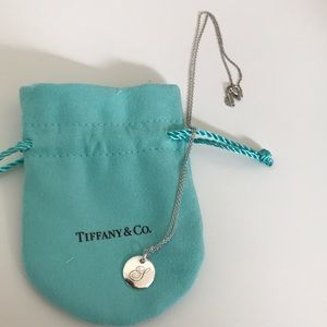 "Tiffany Notes Alphabet ""S"" disc charm & pendant"
